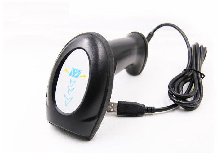 Portable Handheld Laser Qr Code Scanner , 32 Bit CPU Laser Wireless Barcode Scanner